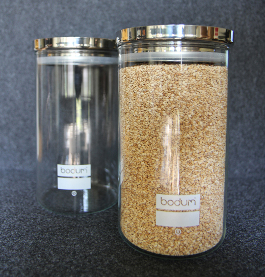 Sesame Seeds in Glass Jar