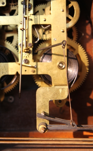 The Gears of a 1936 Seth Thomas Mantel Clock
