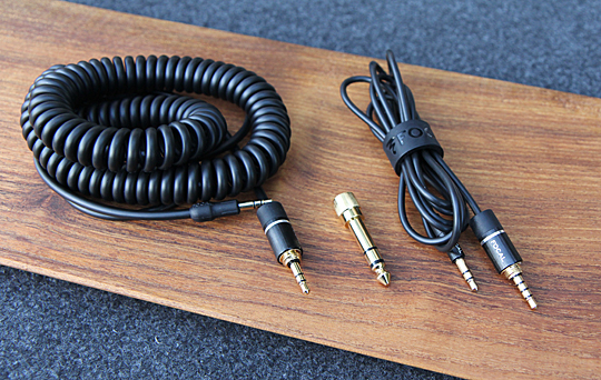 Included Cables; coiled, straight w/ smartphone mic, 1/4 screw on adapter